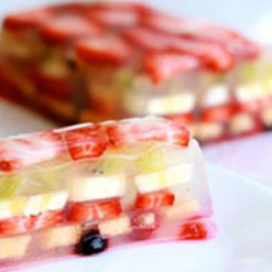 Gelatina Agua y Fruta